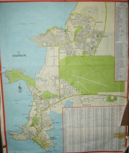 Darwin Map 1970 Darwin History