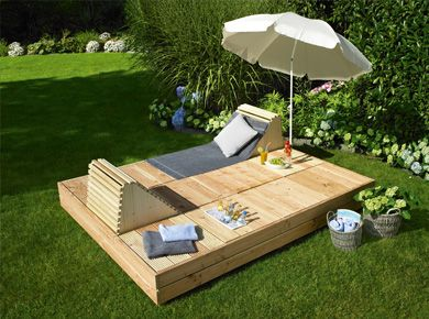 gartenliege sonnendeck diy m bel pinterest garten garten ideen und diy garten. Black Bedroom Furniture Sets. Home Design Ideas