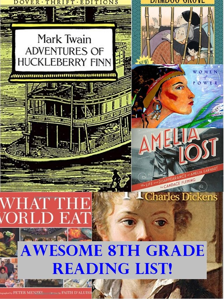 Awesome 8th Grade Reading List Reading Comprehension For Middle