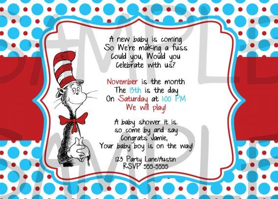 Baby Shower Dr Seuss Baby Shower Invitations Printable Free To Make