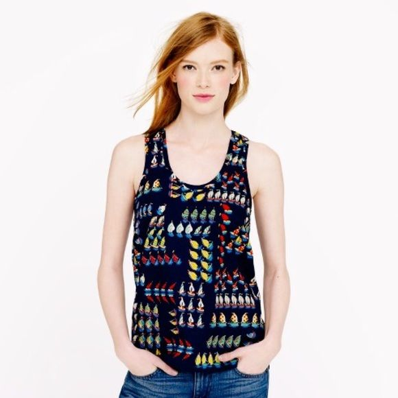 5a5bdab7b0439 J. Crew Ratti Regatta Tank Straight from the storied archives of Italy s  Ratti print house (our go-to source for one-of-a-kind prints)