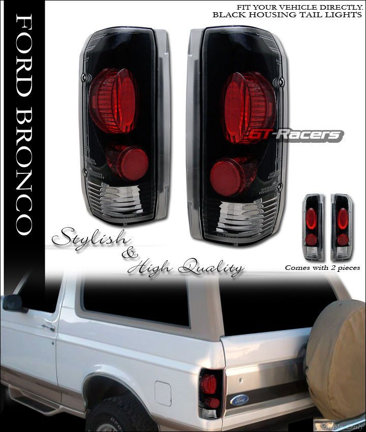 Euro Black Sport Altezza Taillights Lamps 1990 1996 Ford Bronco F150 F250 Pickup Gt Racers Altezzataillights F150 Ford Bronco