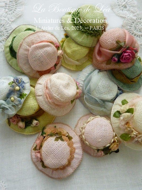 *♥ Atelier de Léa - Un Jour à la Campagne ♥*: Chapeaux macarons #dollhats