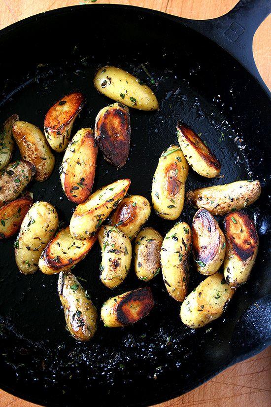 Alexandra's Kitchen -- fingerling potatoes, crispy or not