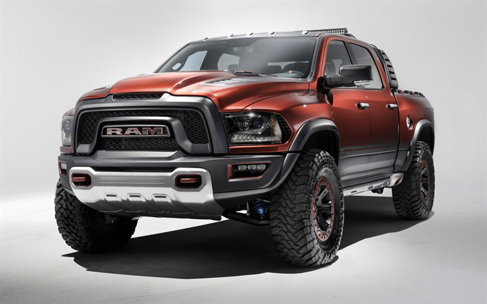Wallpapers Dodge Ram 1500 2018 Exterior Red Suv Front View Tuning American Cars Light Duty Pickup Truck