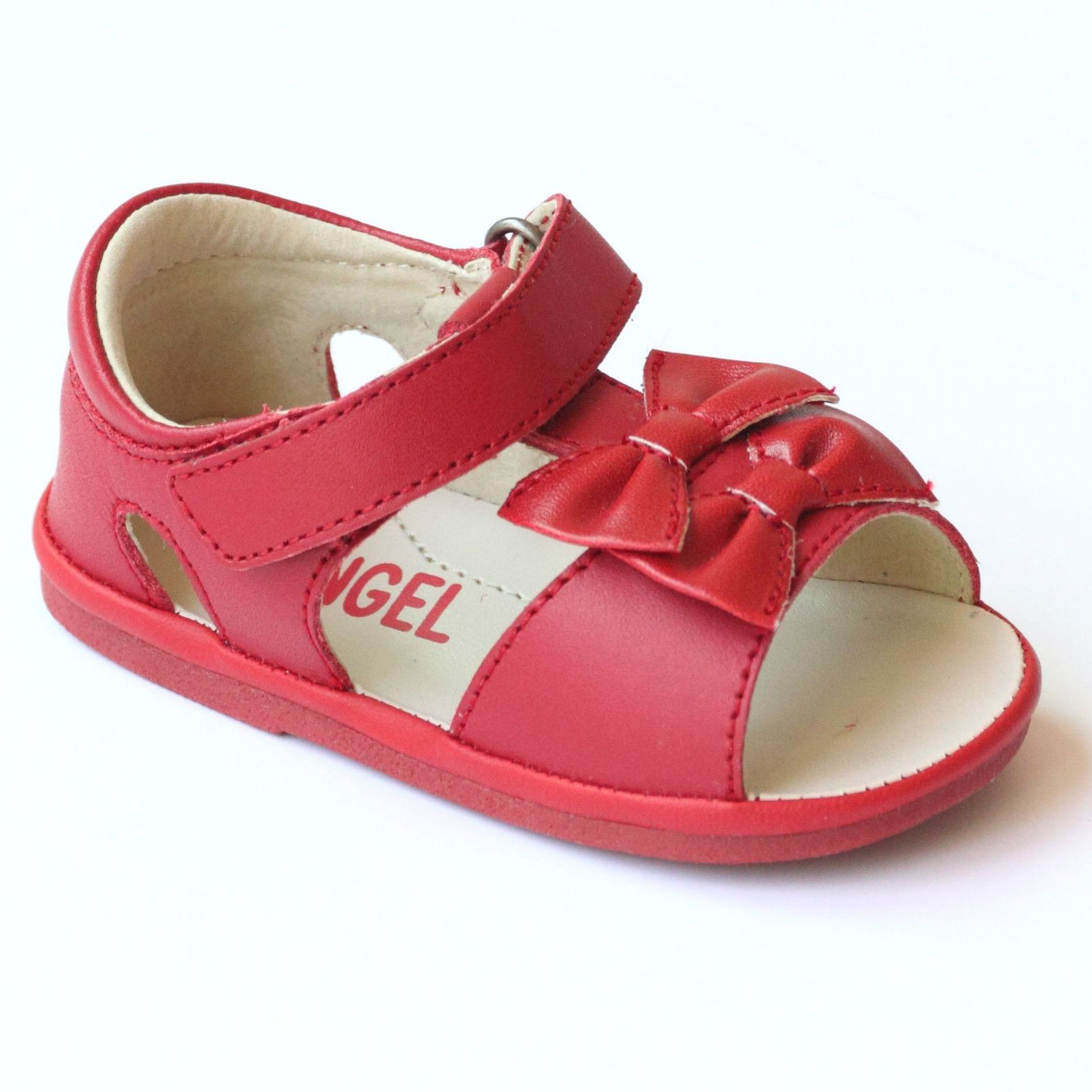 Baby Sandals leather sandales baby leather sandales T-Strap Red Sandals
