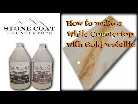 How To Make A White Counter Top With Gold Silver