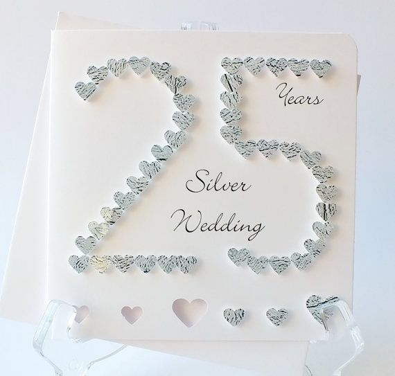 25th Wedding Anniversary Card Silver Wedding Anniversary Silver Wedding Cards 25th Wedding Anniversary Wishes Wedding Anniversary Wishes