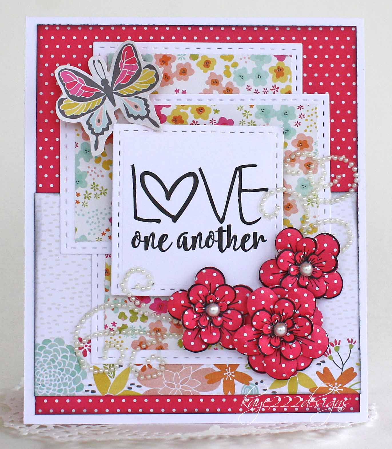 Handmade card by Lisa Blastick using the Love From Me digital set