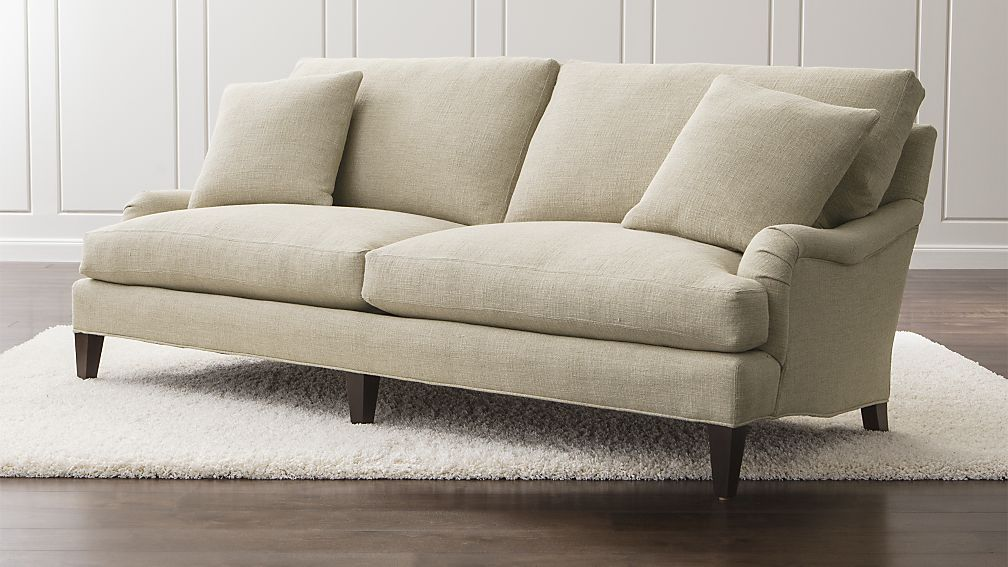 Essex Sofa Crate And Barrel 2000 Same Sofa As At Wisteria In Plain White Cotton For 4 189 Which Is Pretty Much Th Couch Furniture Barrel Furniture Sofa