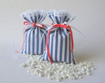 Dotted cotton cloth favor bags Gift bags Sachets by FlorArtSilva