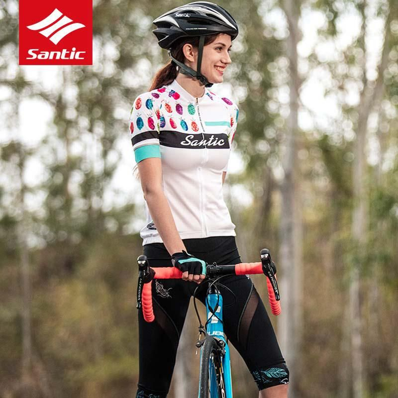 Santic Women Cycling Short Sleeve Jerseys Pro Fit Anti-slip Cuff Ladies MTB  Road Bike Short Sleeve Jersey for Bicycle Riding. Yesterday s price  US   39.69 ... 49c1618a1