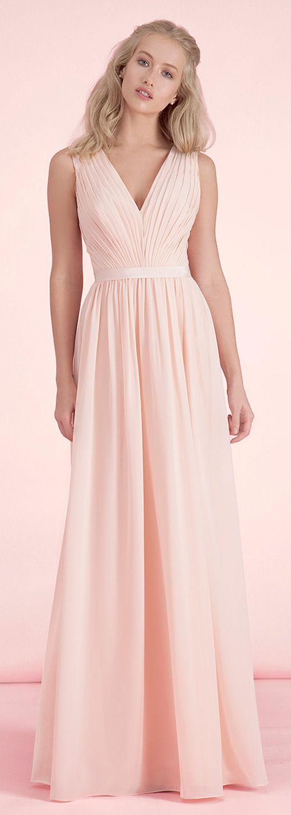 Exquisite chiffon vneck neckline aline bridesmaid dresses style
