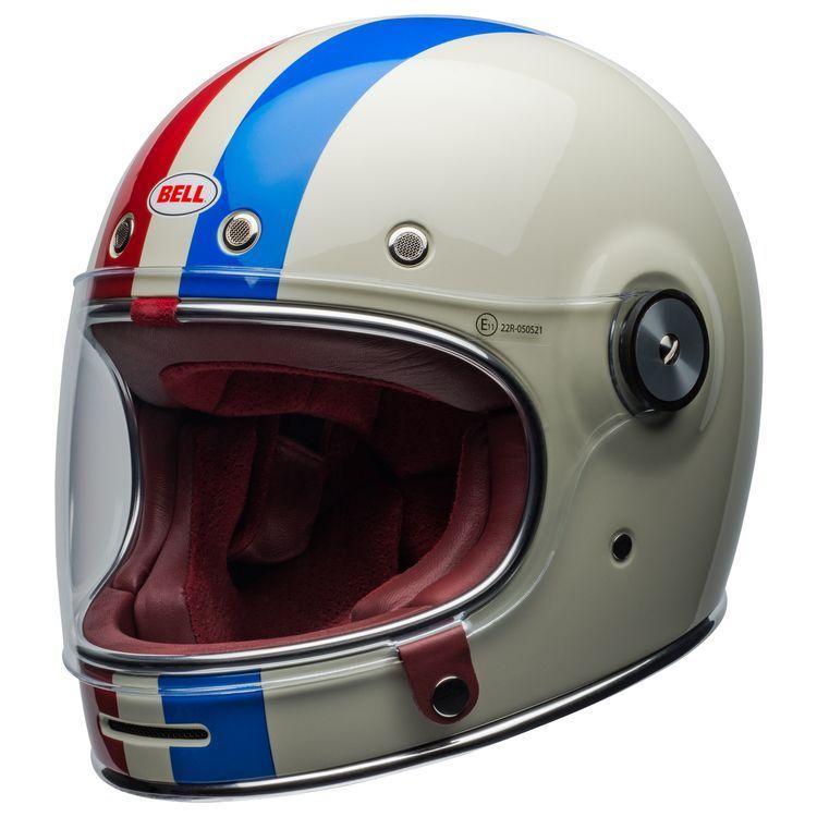 Vintage White Red Blue Vintage Helmet Cruiser Motorcycle Helmet Motorcycle Helmets Vintage