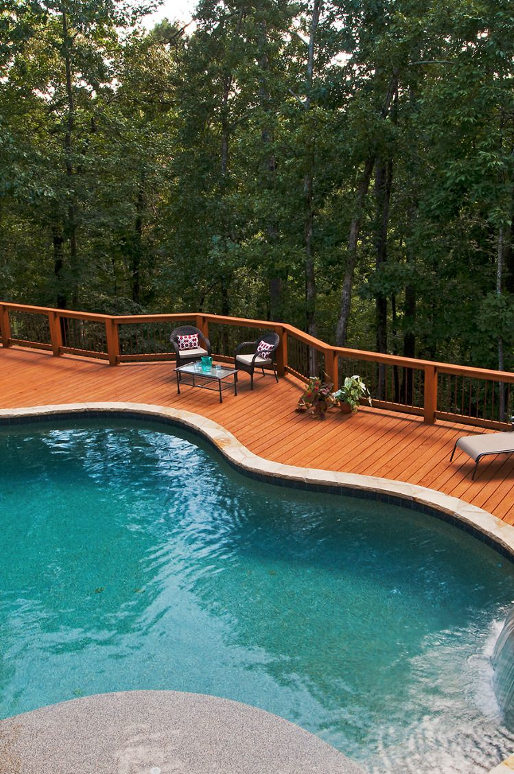 Pt Wood Deck For Pool Decks Around Pools Deck Landscaping Deck
