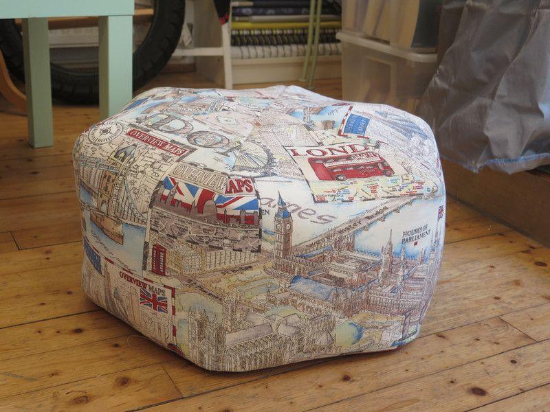 Hocker - Sitzpouf London - ein Designerstück von Naehsalon-Baden bei DaWanda