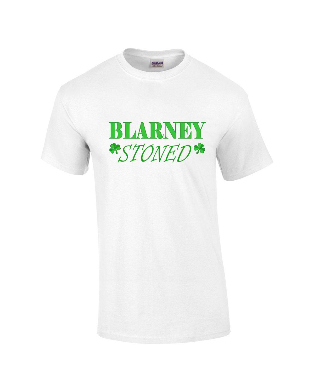 17b207a3c12 Funny St. Patrick s Day Shirt. Drinking Shirt. Blarney stoned. Green tee. Saint  Patty s Day t-shirt. Shamrock tshirt. by PinkPigPrinting on Etsy