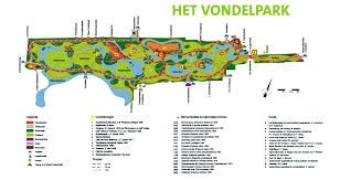 Map of Vondelpark Amsterdam Pinterest
