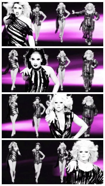 Sissy that walk video: Adore Delano, Bianca Del Rio, Courtney Act and Darienne Lake
