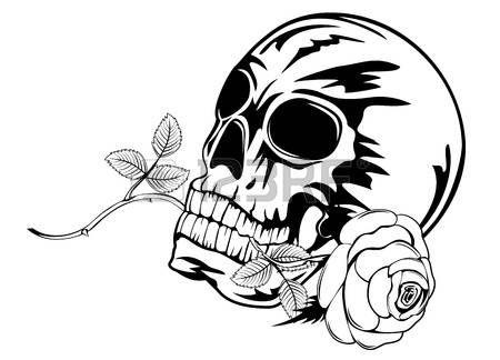 34++ Tatouage tete de mort avec rose inspirations