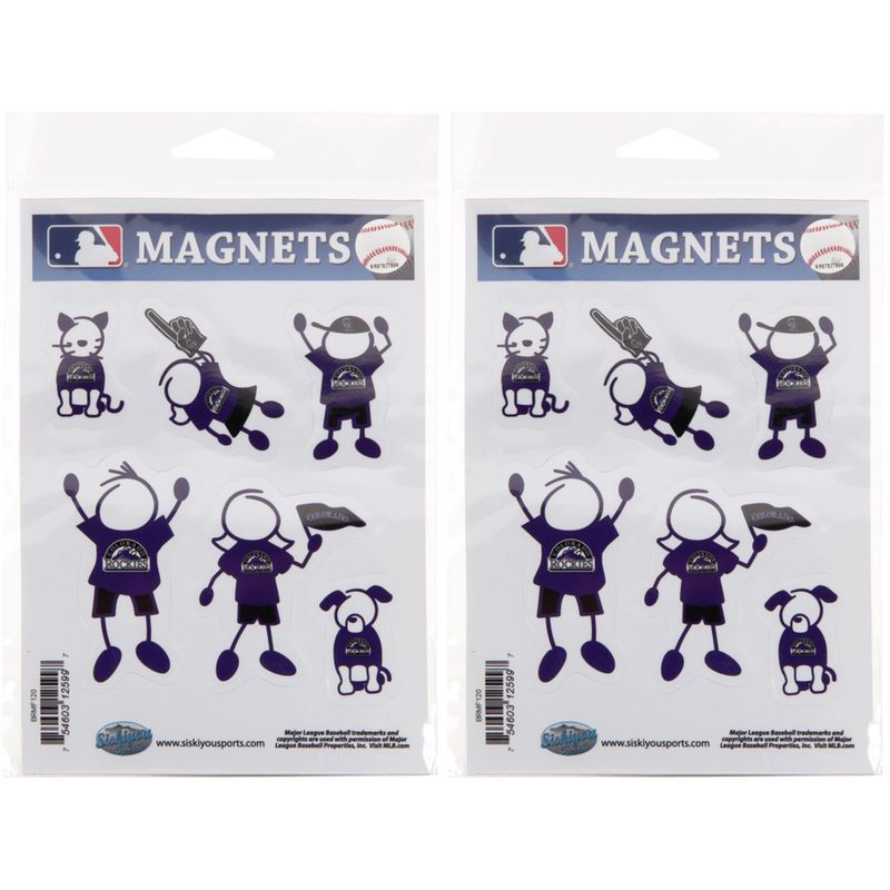 Colorado Rockies Family Magnets 2-Pack