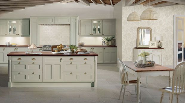 Laura Ashley Tetbury Lichen Kitchen. Yes Laura Ashley have launched kitchens!