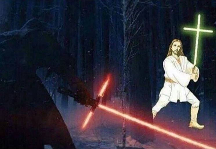 May The Force Be With You And Also With You Star Wars Humor Star Wars Memes Star Wars Episodes