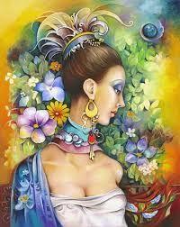 Cuban Artist Orestes Bouzon -   such color   -   such BEAUTY