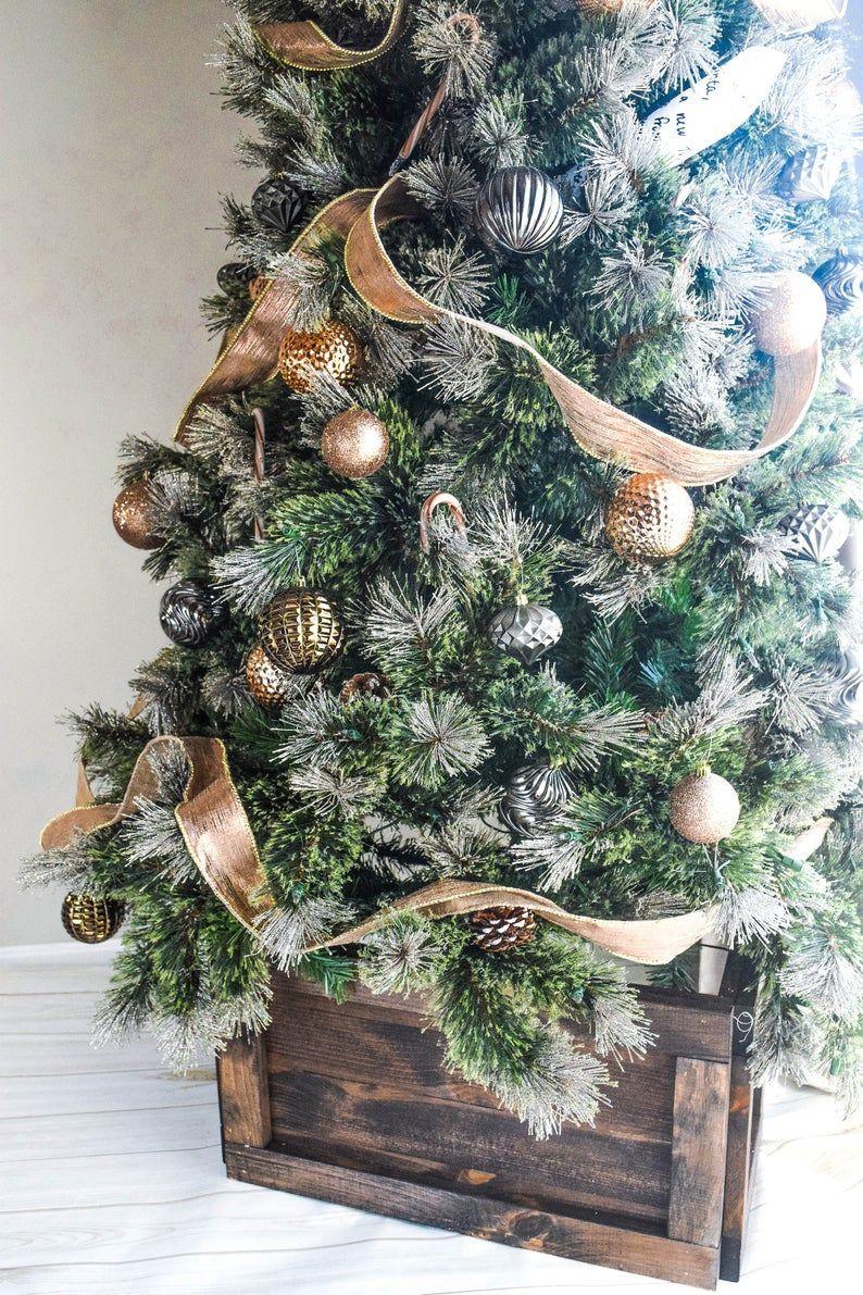 Collapsible Christmas Tree Decor Box Wood Holiday Decorations Etsy In 2020 Collapsible Christmas Tree Christmas Tree Box Stand Christmas Tree Box