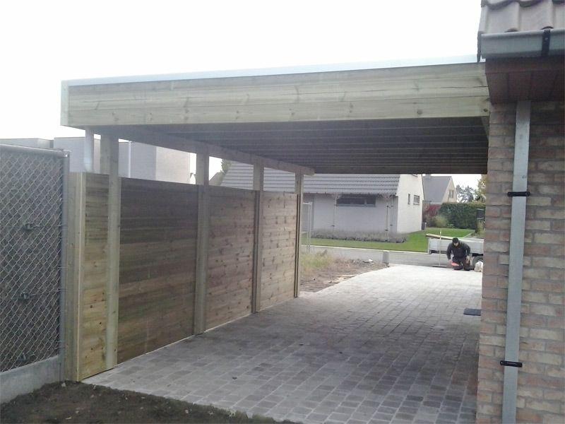 carport in hout carport op maat met materiaal naar keuze