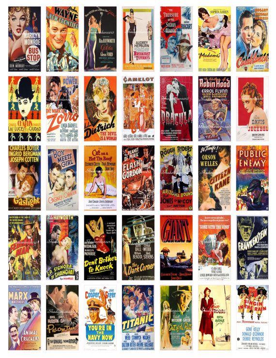 Vintage Movie Posters Printable Digital Collage By Shadowdancer2