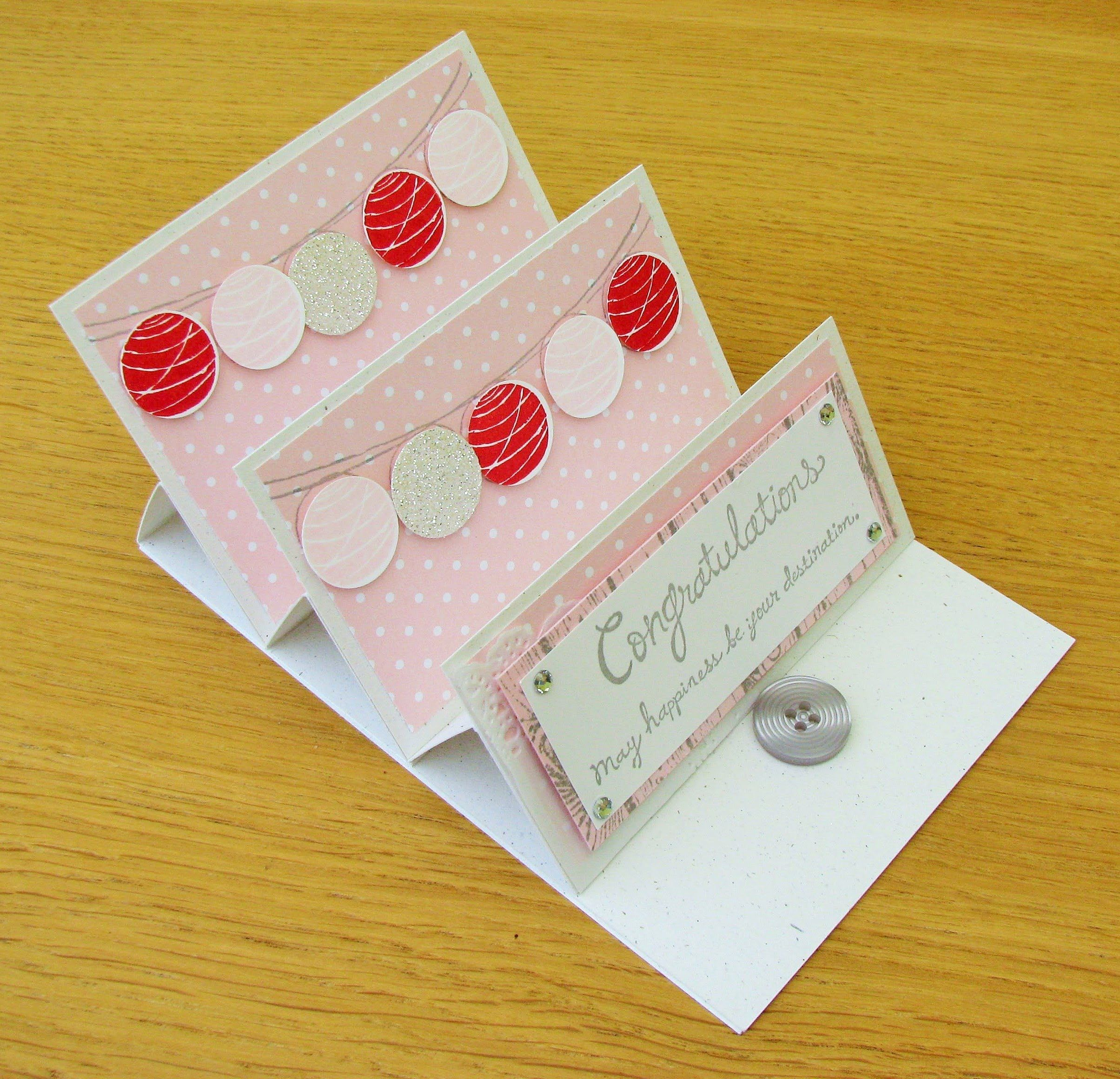 Stampin Up Happy Congratulations Triple Easel Card To Fit A Standard