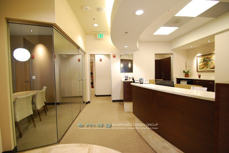 Medical Office Design Ideas the egrari medical office private patient waiting area reception medical office Dental Office Consultation Check Out Area Photos By Enviromed Design Group