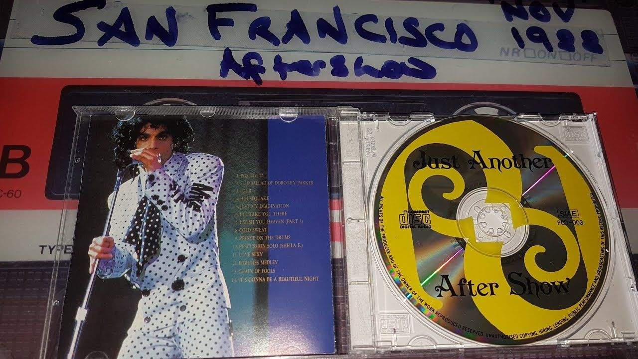 Prince Just Another After Show San Francisco 10 Nov 1988.