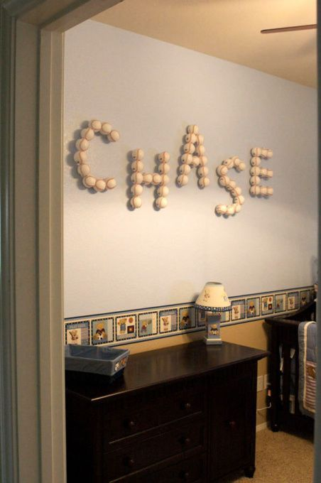 baseball baby name sports nursery decorations | Sports Themed ...