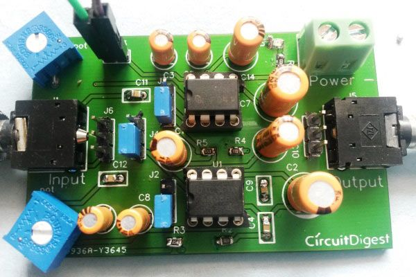 Headphone Amplifier PCB with Components Soldered | PCB