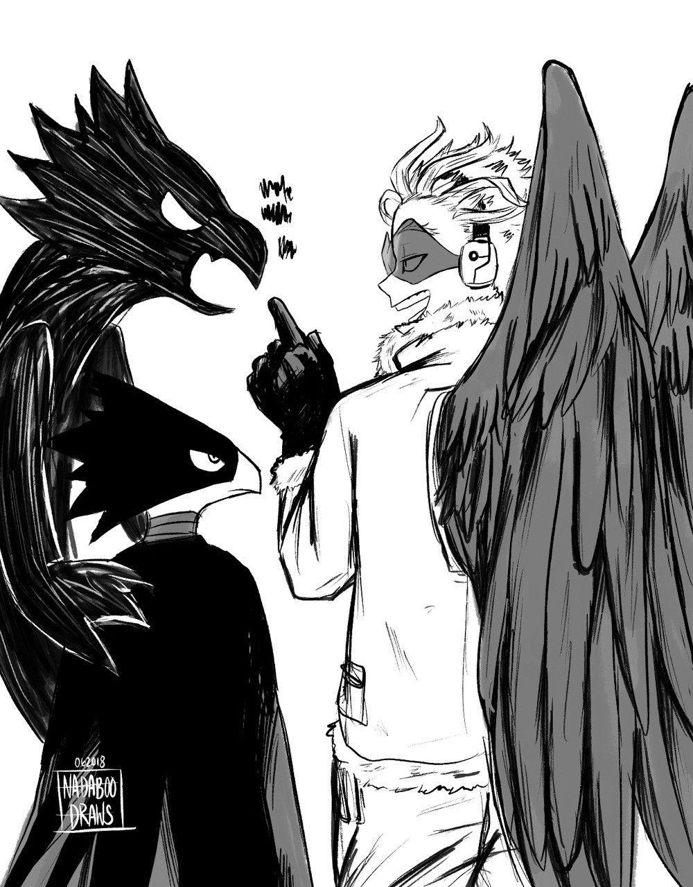 Hawks Fumikage Tokoyami Boku no Hero Academia BNHA | WELP    it