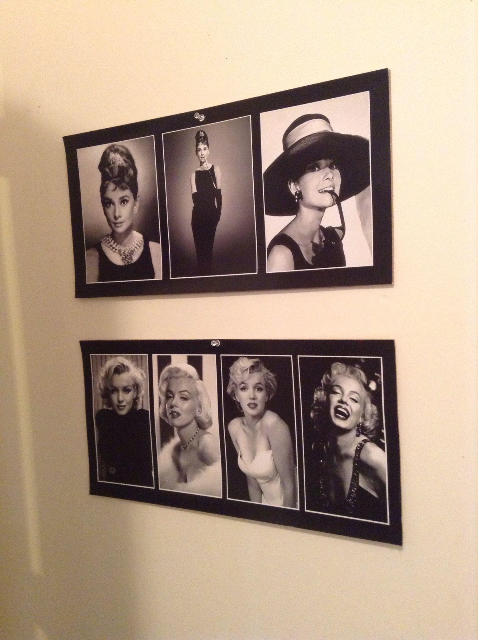 Marilyn Monroe Audrey Hepburn Wall Posters Marilyn Monroe Decor Marilyn Monroe Room Hollywood Bedroom