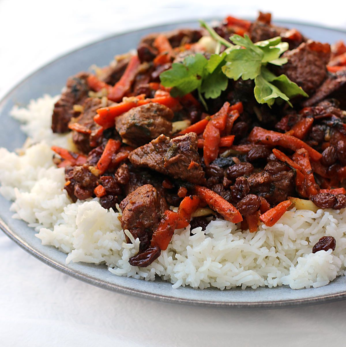 Recipe for pilaf from beef and steamed rice 56