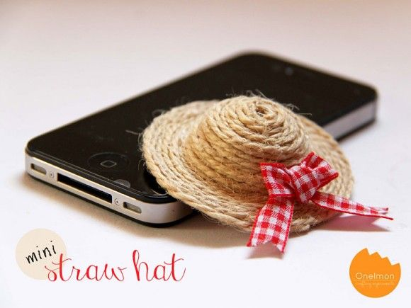 e731e259a43 Make a Miniature Straw Hat (Dollar Store Crafts)
