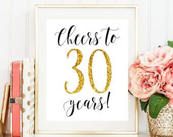 Image result for cheers to 30 years decorations 30th Birthday
