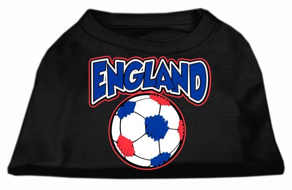 England Soccer Screen Print Shirt Black 5x (24)
