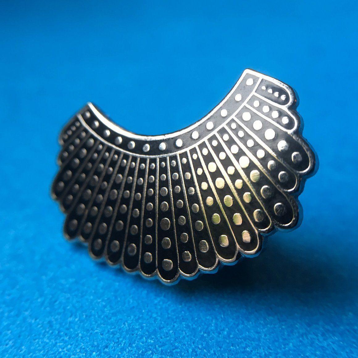 Ruth Bader Ginsburg's Dissent Collar Pin Collar pins