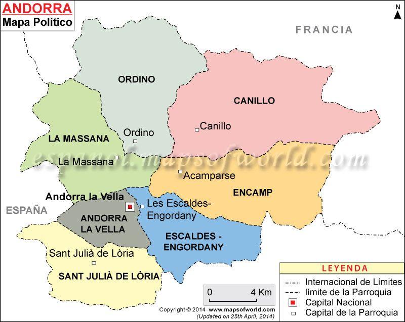 Mapa Andorra Mapa De Andorra Andorra Mapa De Europa Y Mapa Paises