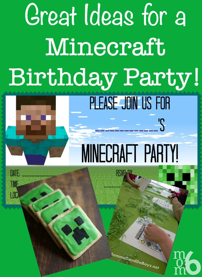 Great Ideas for a Minecraft Birthday Party Minecraft party games