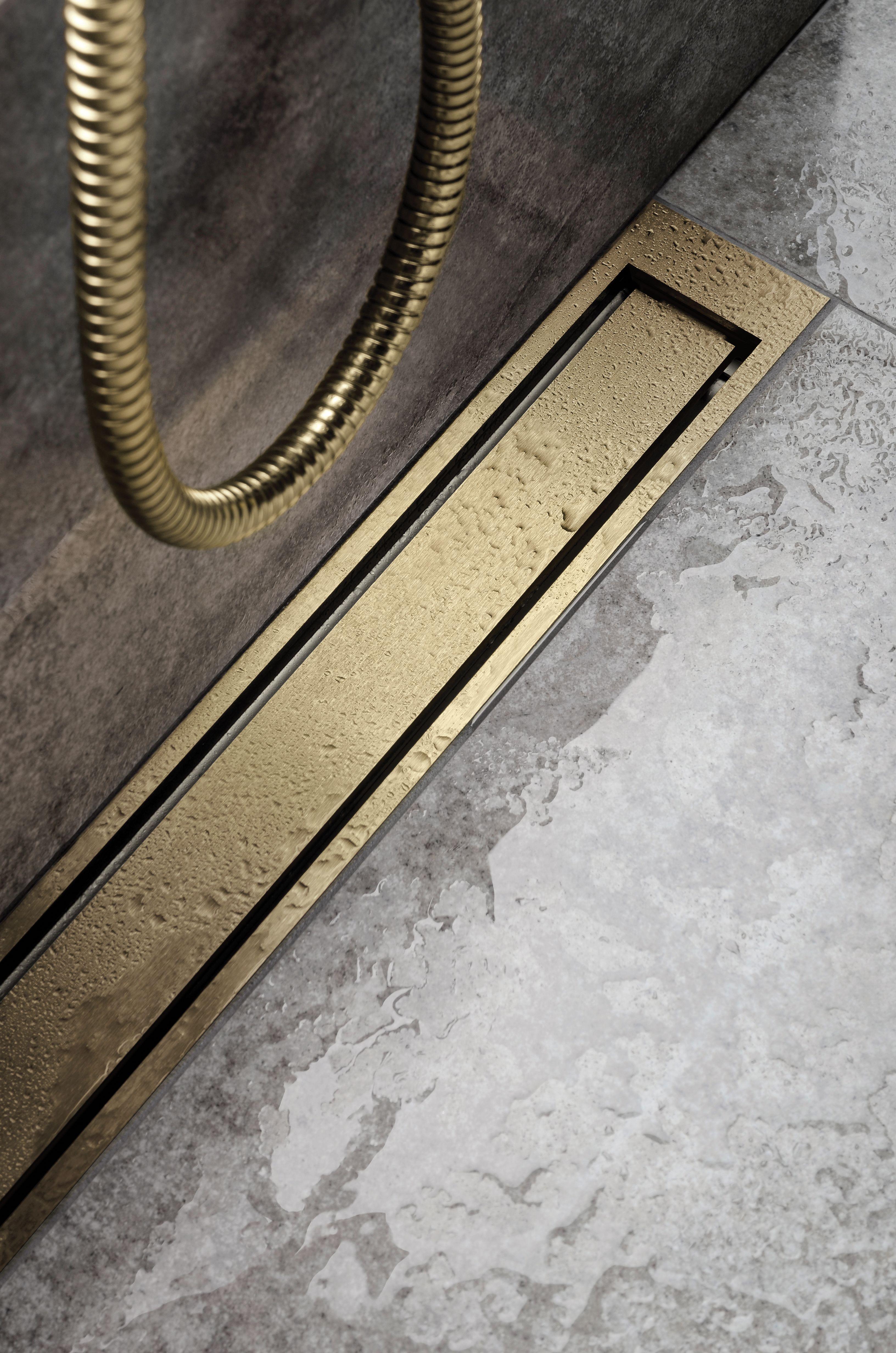 Highline Colour Brass By Unidrain Floor Drains Bathroom Drain Bathroom Design Inspiration