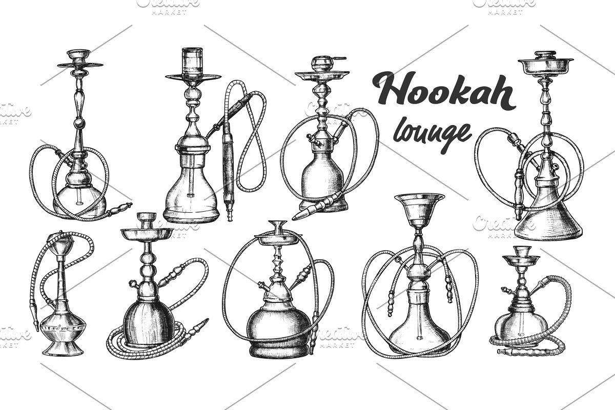 Collection Of Different Hookah Set Hookah Custom Graphics