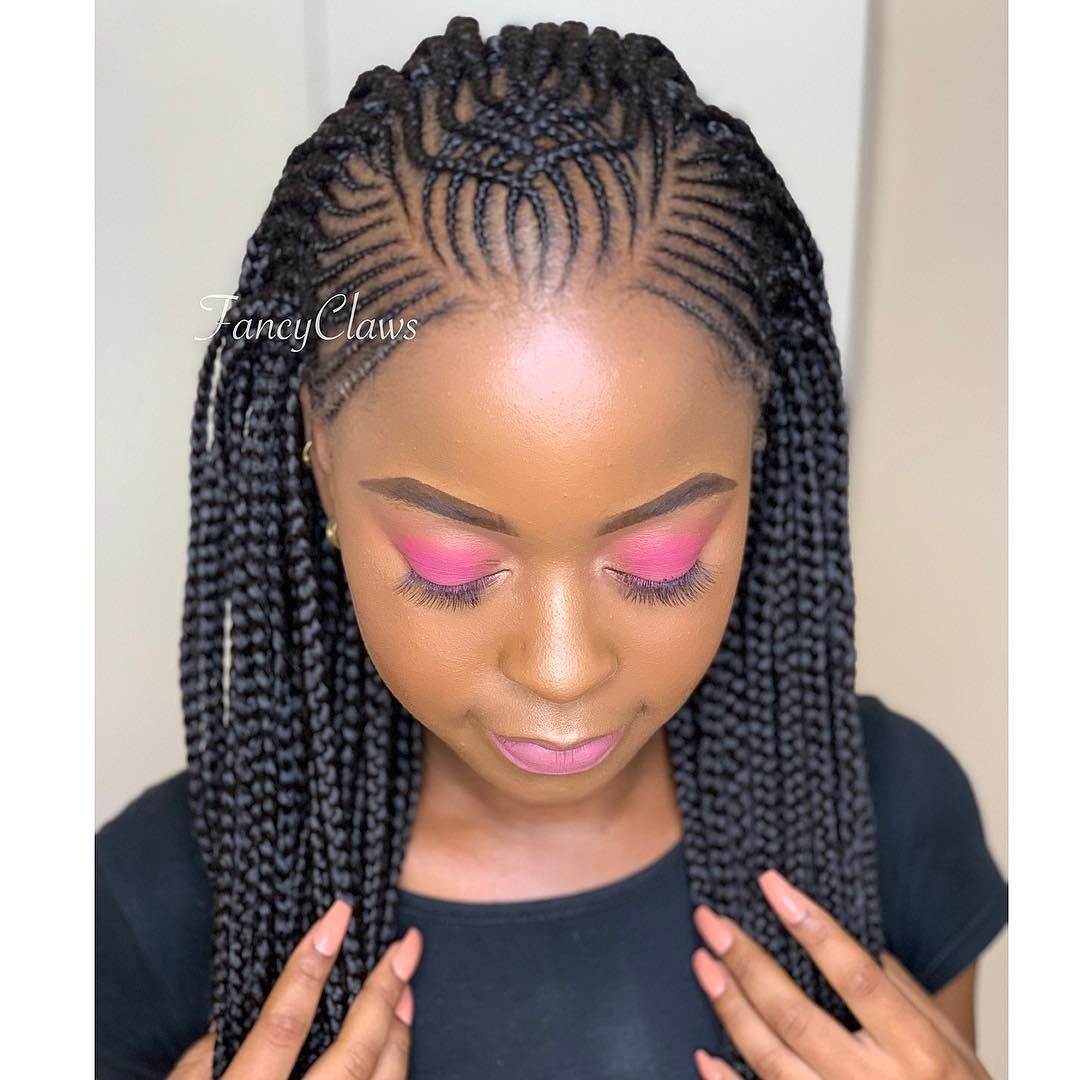 Pin By Very Berry On Fancyclaws Beautiful Salon Braided Hairstyles Cool Braid Hairstyles African Hair Braiding Styles