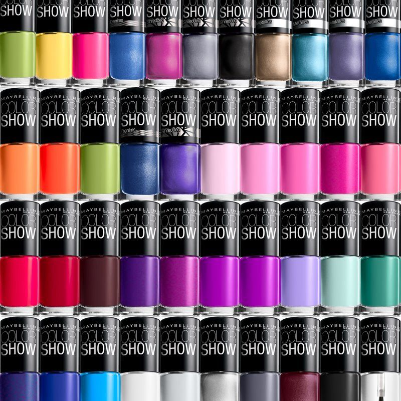 1000 images about maybelline nail on pinterest mists jade and yellow - Vernis Color Show