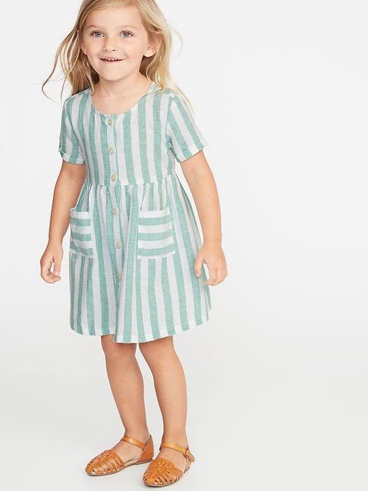 3c50799f230c Striped Waist-Defined Shirt Dress for Toddler Girls | Spring/Summer ...